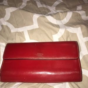 Lodis Audrey RFID Checkbook Clutch Wallet -  Red